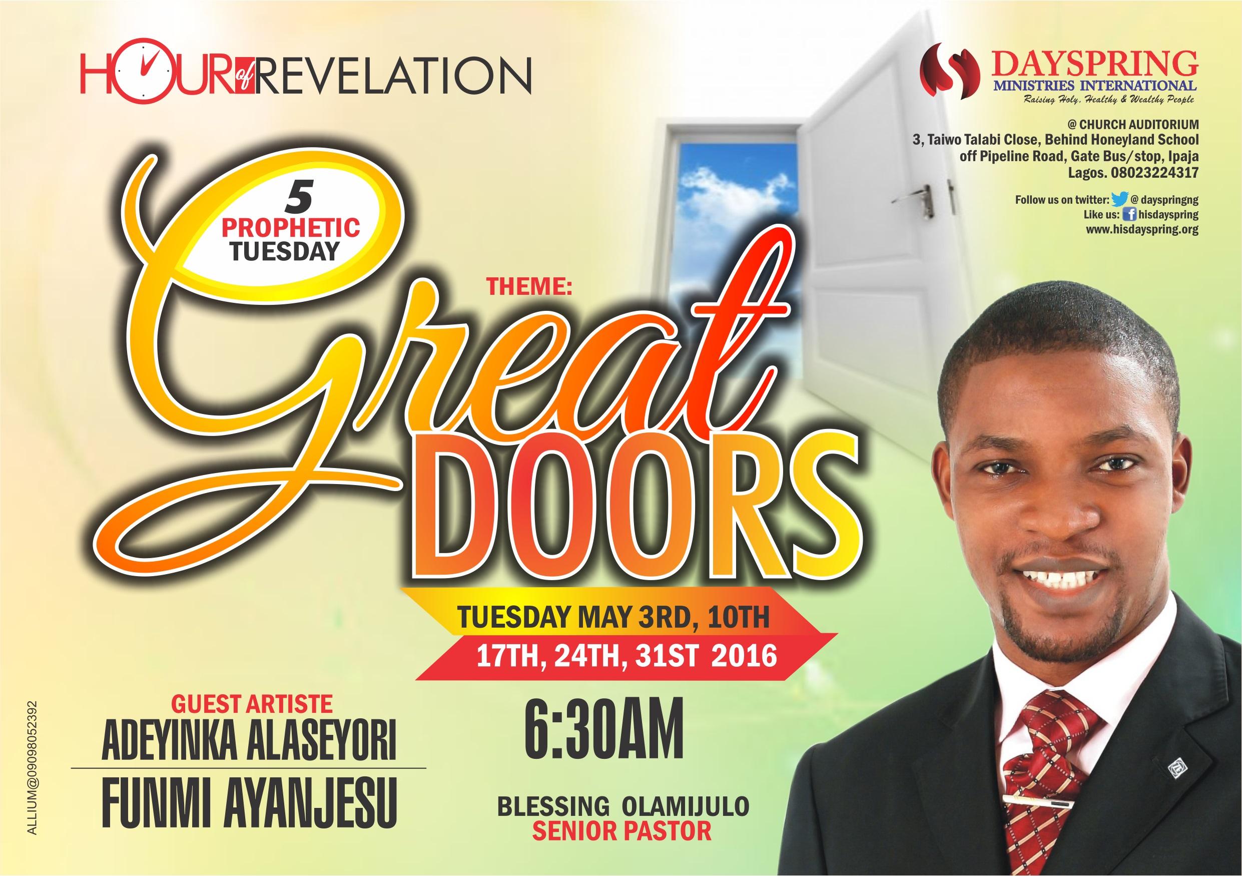 Hour of Revelation - Great Open Doors
