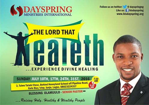 All Sundays in July - The Lord that Healeth