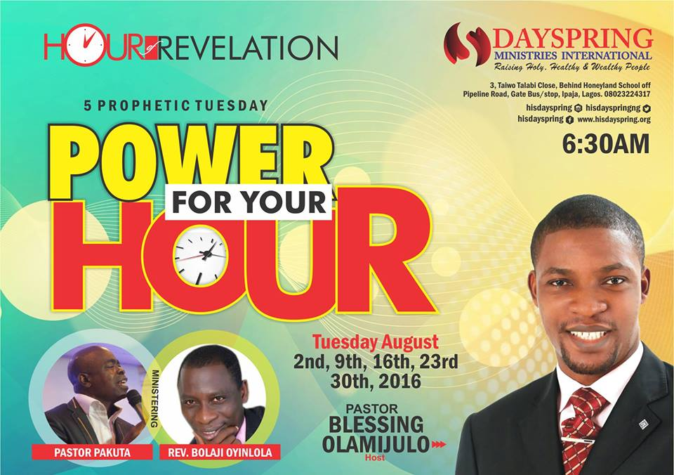Power for your hour-Hour of Revelation