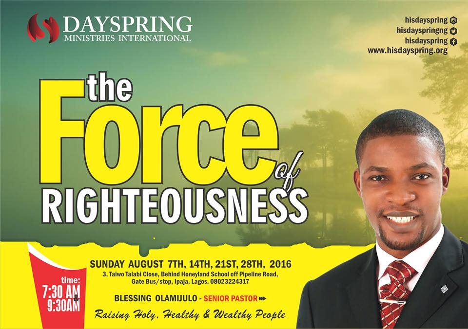 The Force of Righteousness-Celebration Service