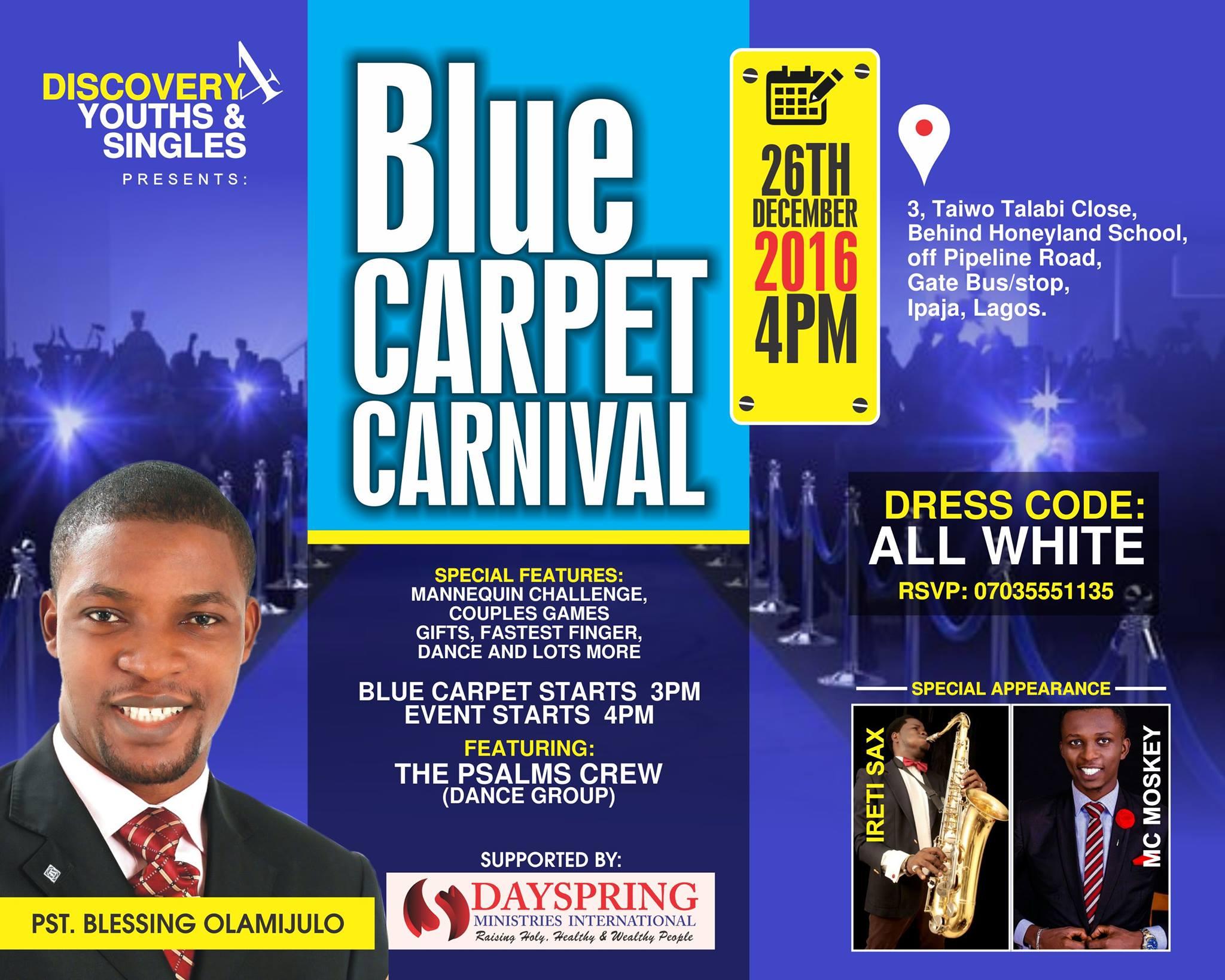 Blue Carpet Carnival 2016