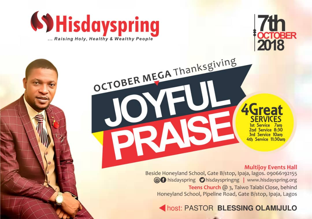 October Mega Thanksgiving - Joyful Praise