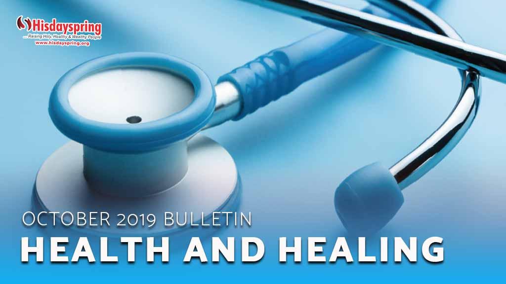 Health and Healing - October 2019 Bulletin